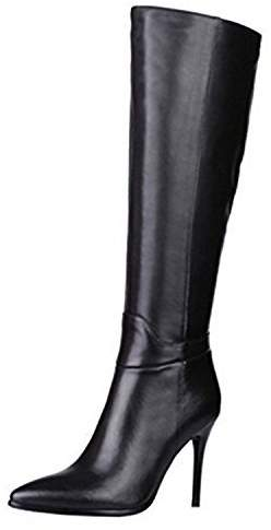bbfcb87c46f VOCOSI Women's Leather Over The Knee Boots Pointy Toe Side-Zip High Heels  Dress Boots 7.5 US