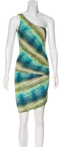 Torn By Ronny Kobo One-Shoulder Knee-Length Dress