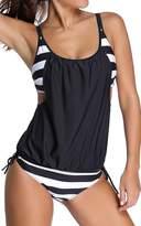 Imilan Sports Push Up Double Up Tankini Swimsuit Swimwear
