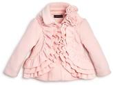 Biscotti Infant Girls' Ruffled Polar Fleece Jacket - Sizes 12-24 Months
