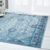 Nicole Miller Starlight Border Blue Indoor/Outdoor Area Rug