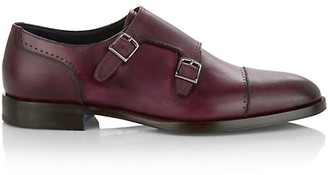 Sutor Mantellassi Heritage Leather Double Monk Strap Shoes