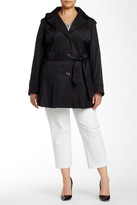 Via Spiga Scarpa Single Breasted Trench Coat (Plus Size)