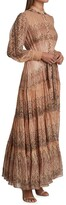 Thumbnail for your product : HEMANT AND NANDITA Shirred Belted Maxi Dress