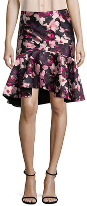 Romance Was Born Floral High-Low Skirt