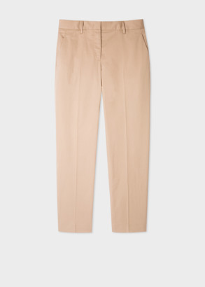 Paul Smith Women's Classic-Fit Beige Cotton Trousers