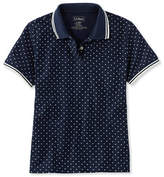 L.L. Bean Premium Double L Polo, Relaxed Fit Short-Sleeve Dot