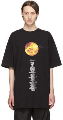 Vetements Black Venus Planet Number T-Shirt