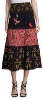 Etro Kimono Mixed Print Silk Skirt
