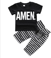 Generic Newborn Baby Boys Kids Casual Cotton T-shirt Tops + Pants Outfits Clothes Set 0-5Y