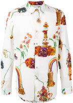 Paul Smith rainbow print shirt - men - Cotton - L
