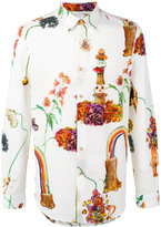 Paul Smith rainbow print shirt - men - Cotton - M