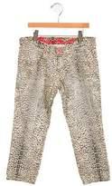 Roberto Cavalli Girls' Animal Print Jeans