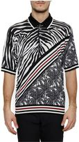 Dolce & Gabbana Printed Silk Polo Shirt