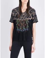 The Kooples Sport Black crepe T-shirt
