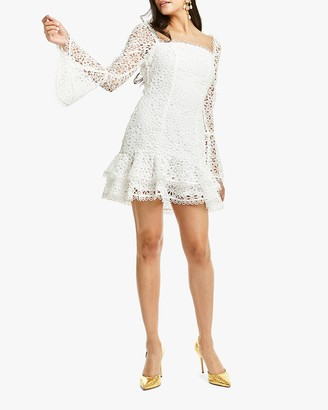 Mestiza Sintra Daisy-Chain Lace Mini Dress