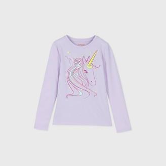 Cat & Jack Girls' Long Sleeve Unicorn Graphic T-Shirt - Cat & JackTM