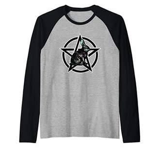 Goth Pastel Rabbit & Pentagram Raglan Baseball Tee