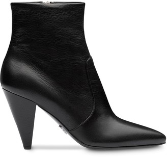 Prada Madras leather booties