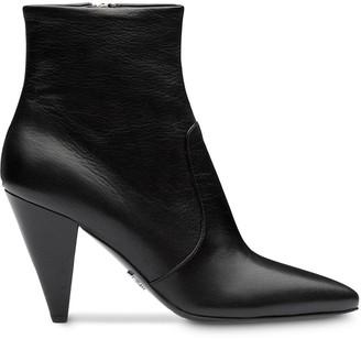 Prada Madras leather booties