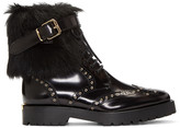 Burberry Black Fur-Trimmed Whenaston Boots