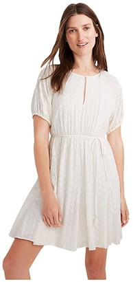 Madewell Eyelet Tassel-Tie Mini Dress (Lighthouse) Women's Clothing