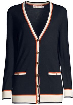 Tory Burch Madeline Oversized Merino Wool Cardigan