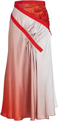 CHRISTOPHER ESBER Silk Ombre Midi Skirt