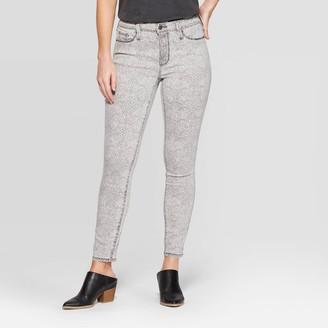 Universal Thread Women's Snakeskin Print High-Rise Skinny Jeans - Universal ThreadTM Light