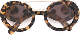 Prada baroque frame sunglasses - women - Acetate/metal - One Size