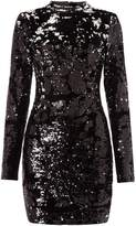 GUESS High neck sequin shift dress