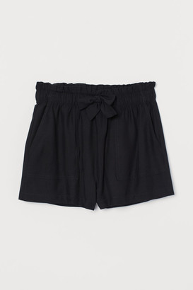 H&M High Waist Shorts - Black