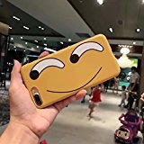 Urberry Iphone 7PLUS Case, Smile Face Sturdy Yellow Case with a free Screen Protector