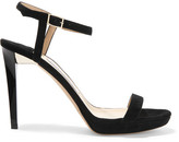 Jimmy Choo Claudette Suede Platform Sandals - Black