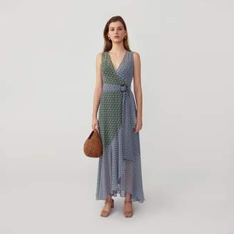 Fame & Partners O-Ring Wrap Dress