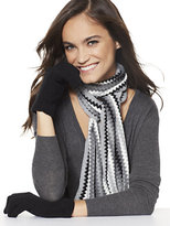New York & Co. 2-Piece Zig-Zag Stripe Scarf & Gloves Set