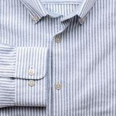 Charles Tyrwhitt Slim fit navy bengal stripe washed Oxford shirt