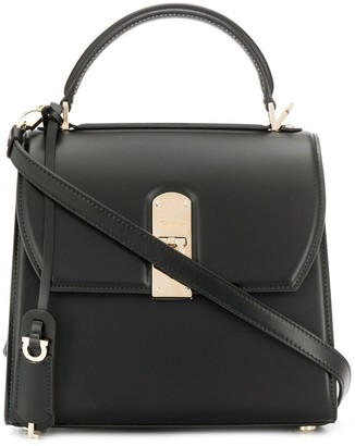 Salvatore Ferragamo Logo Plaque Shoulder Bag
