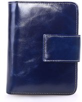 AINIMOER Women's Small Genuine Leather Bi-Fold Wallet Card Holder Coin Pocket with Zipper