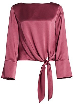 Cinq à Sept Scarlett Tie-Hem Silk Top