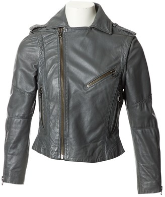 Zadig & Voltaire Grey Leather Jacket for Women