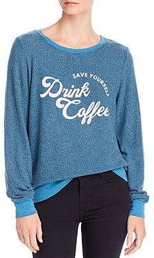 Wildfox Couture Baggy Beach Drink Coffee Sweatshirt