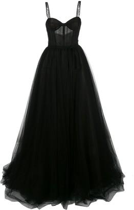 Carolina Herrera Logo Intarsia Gown