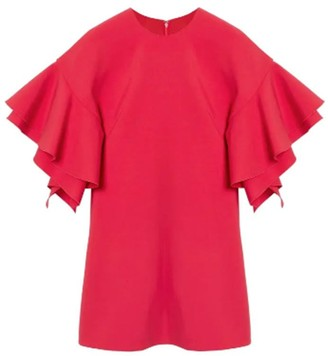 Carolina Herrera Double Ruffle Mini Dress
