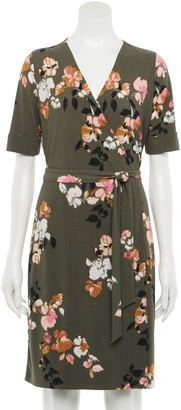 Apt. 9 Women's Elbow Sleeve Wrap Dress