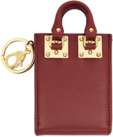 Sophie Hulme Burgundy Albion Tote Keychain