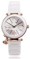 Vivienne Westwood Women's VV067RSWH Kensington Stainless Steel Watch with Ceramic Band