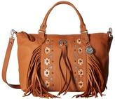 American West Chenoa Large Zip Top Convertible Satchel Satchel Handbags