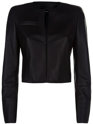 Akris Cropped Leather Jacket
