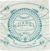 Chanel White Cotton Cuba Scarf